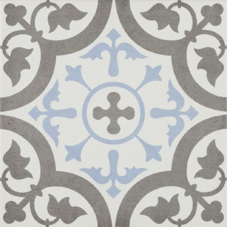 Shop The Vibe Light Blue Patterned Wall And Floor Tiles 223 X