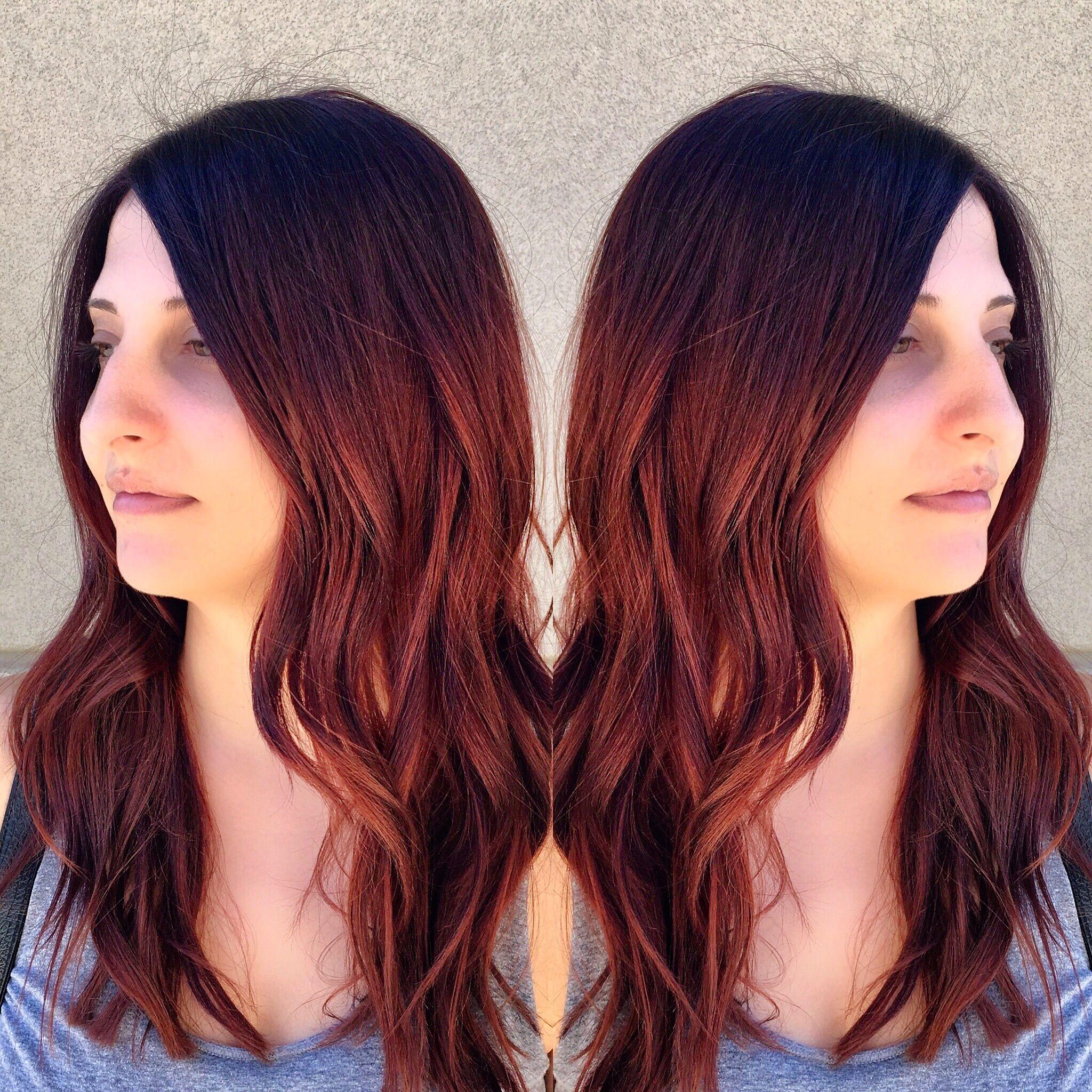 Mahogany With Copper Hair Colour Hair Copper Hair Color Hair Beauty