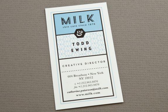blue custom skin care business card design template by elena
