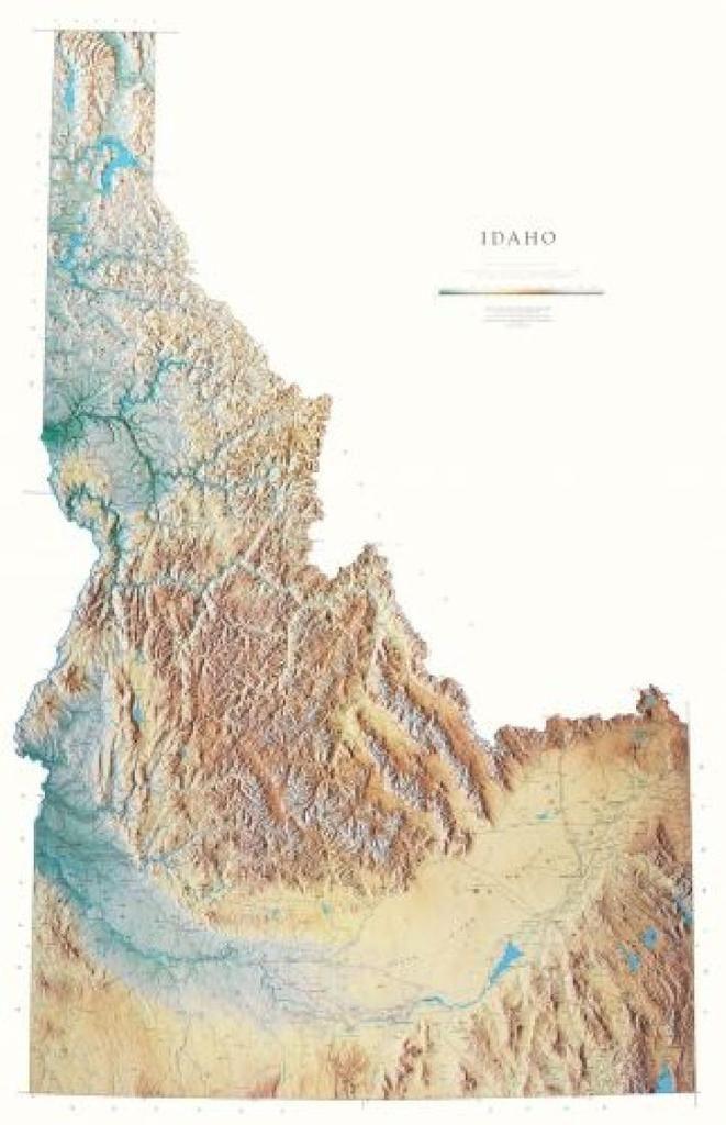 idaho physical laminated wall map by raven maps in 2020 on laminated wall maps id=45891