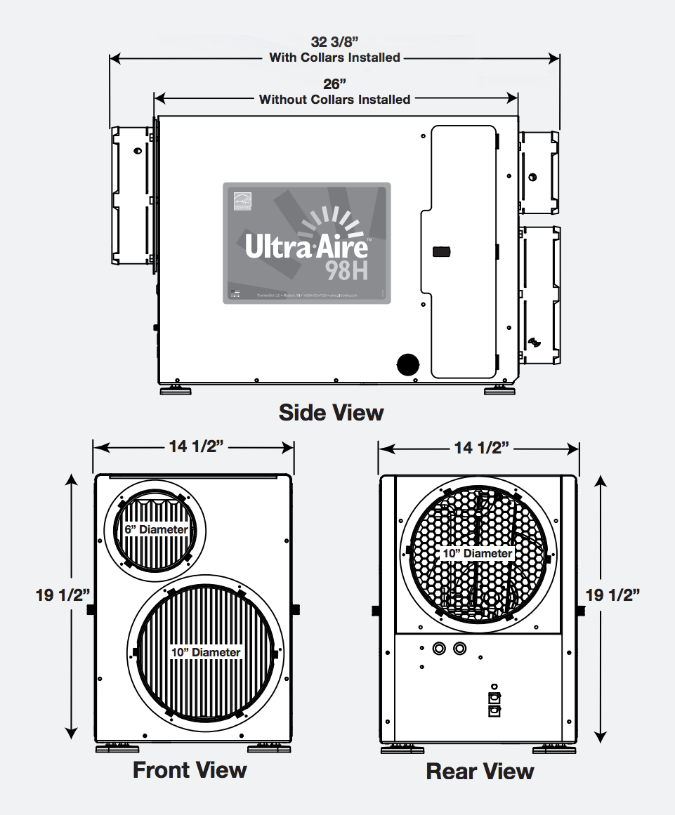 98H Whole House Ventilating Dehumidifier Dehumidifiers
