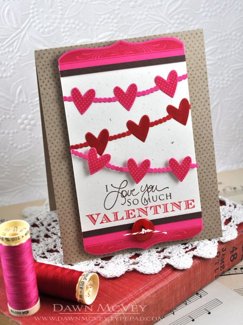 Introducing Happy Hearts More Boutique Borders Valentine Valentine Card Crafts Valentine Greeting Cards Valentine Love Cards