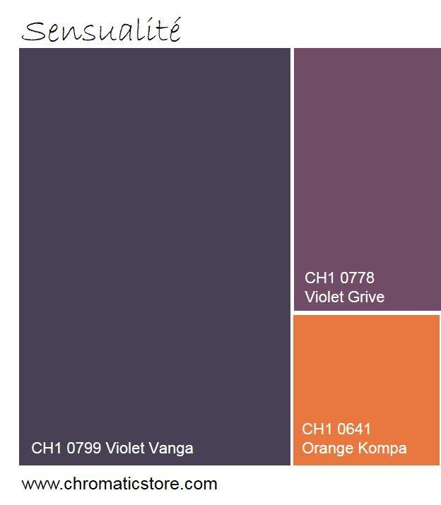 Cette palette de violets soutenus et de orange cr era un environnement sensuel et chaleureux - Peinture cuisine violet ...