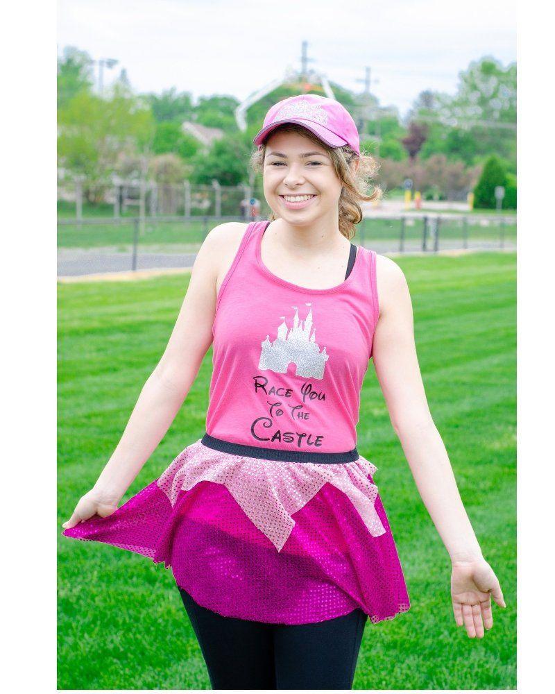 Sleeping princess Pink Running outfit~ SkirtTankcostume