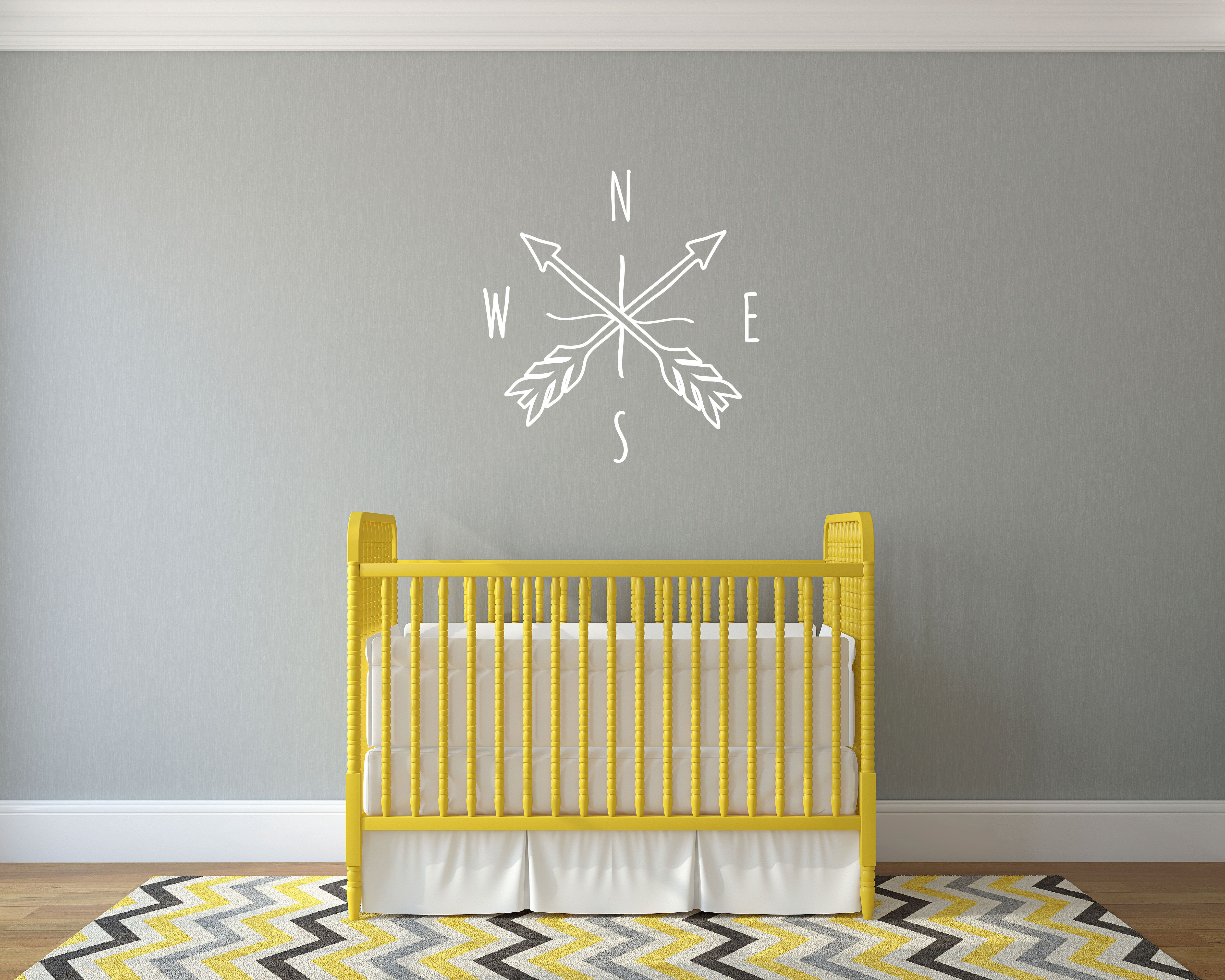 Doodle Arrow Compass - Wall Decal Custom Vinyl Art Stickers for ...