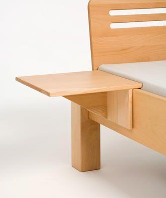 Nachttisch Zum Anstecken Adriano Aus Naturholz Metallfrei Gebaut