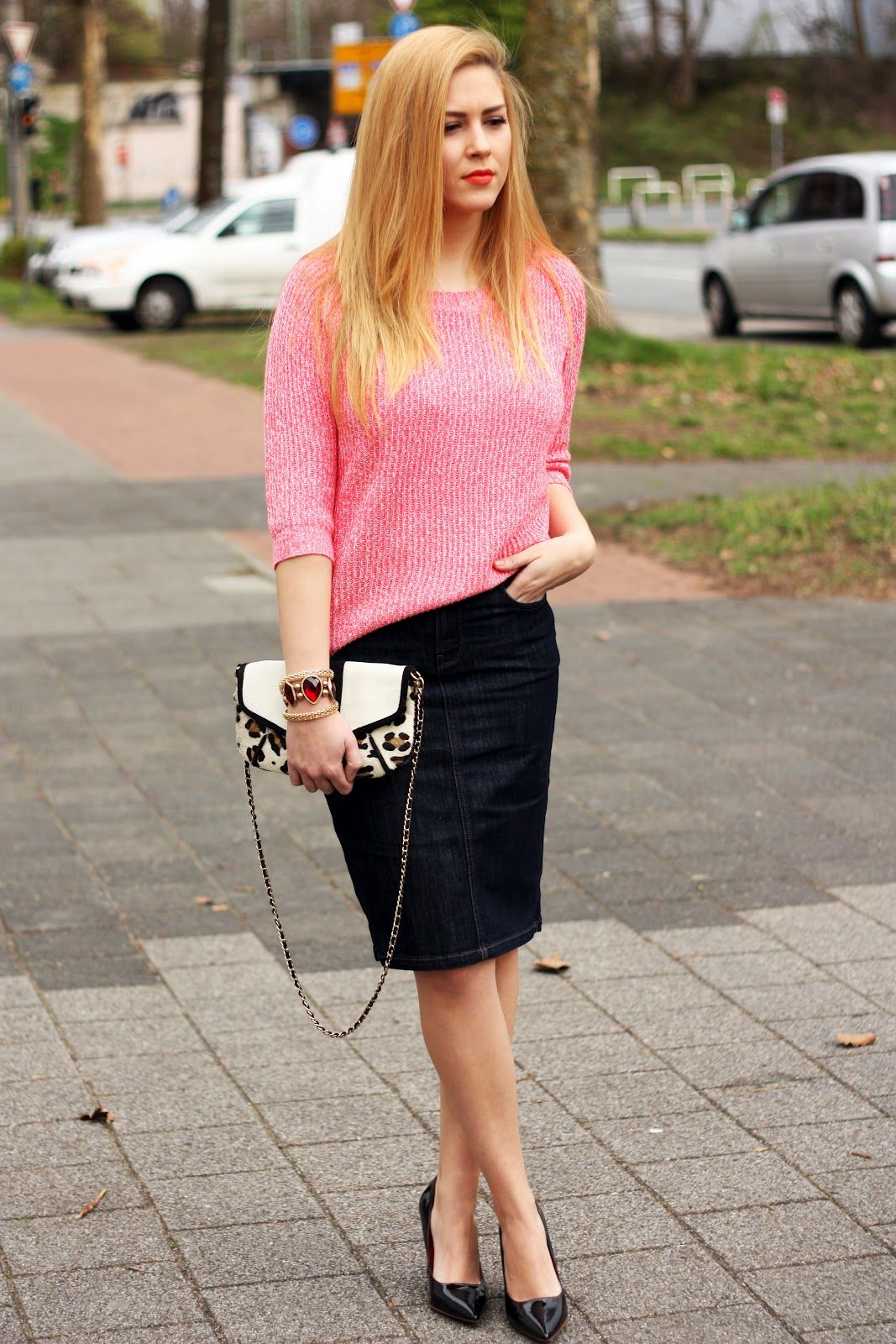 Fashion Painted Dreams: Zara denim pencil skirt
