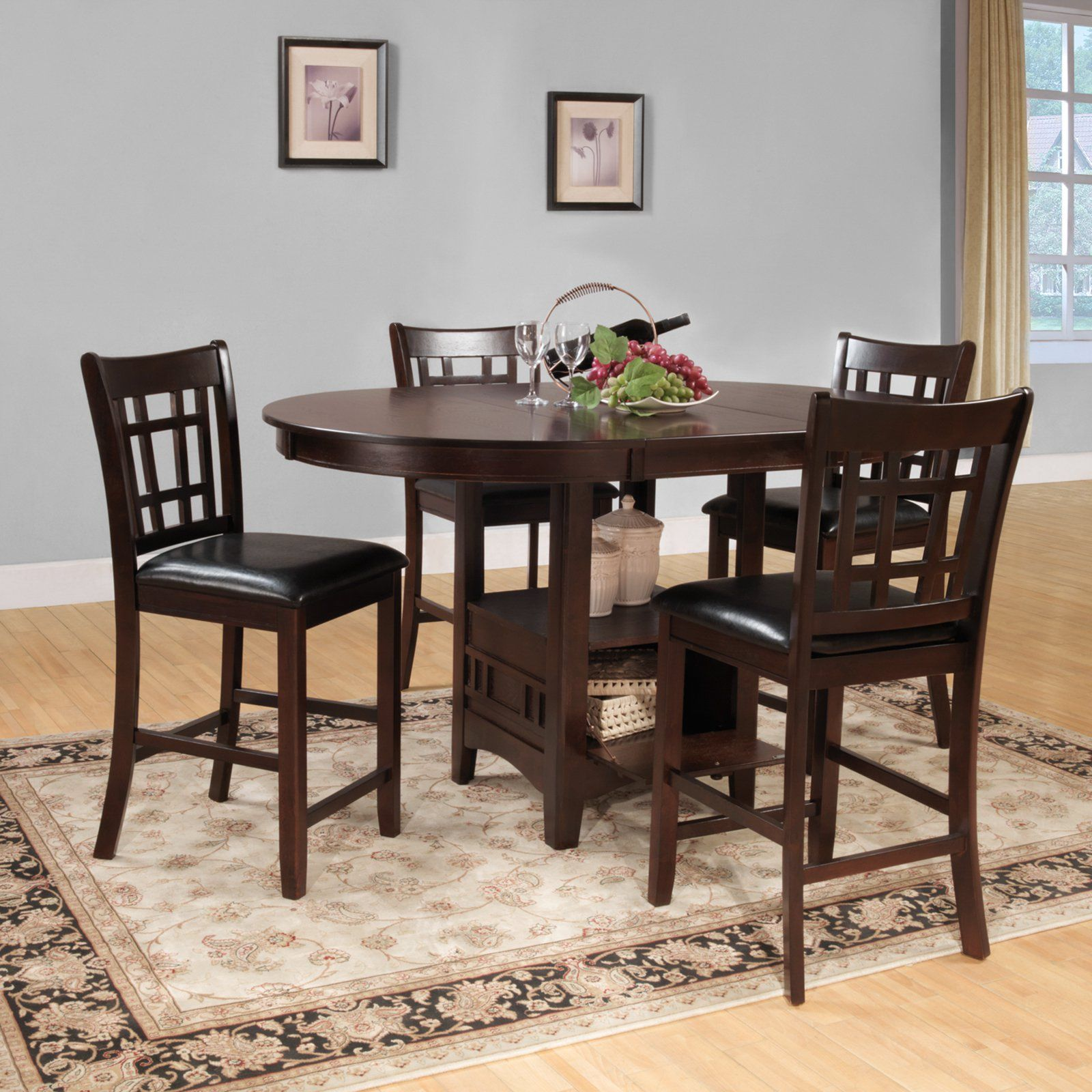 Homelegance Junipero 5 Piece Counter Height Dining Table Set
