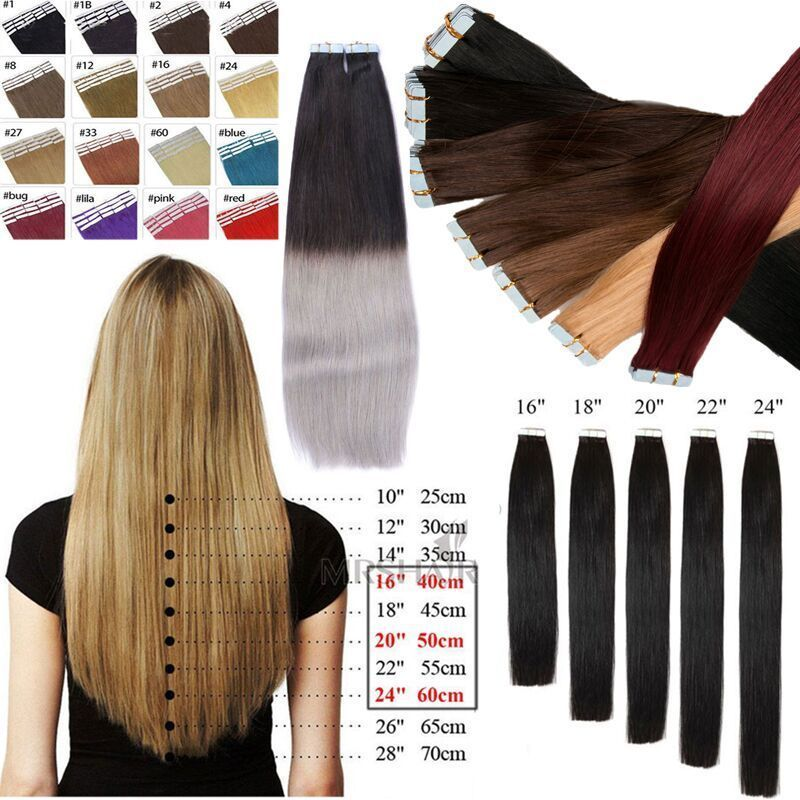 299aud 8a Pu Skin Weft Tape In Remy Human Hair Extensions 16
