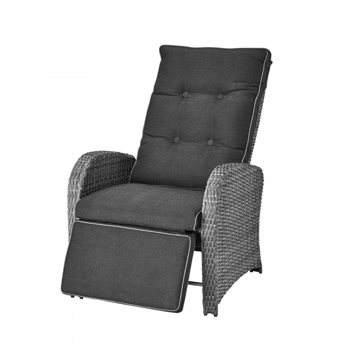 Luxus Komfortsessel Colombo Grau Mit Sitzkissen Armlehnen Bettenlager Sitzkissen