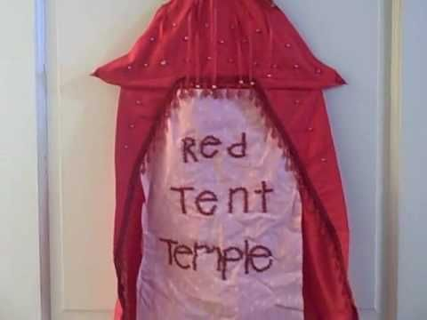 Red Tent Temple set up