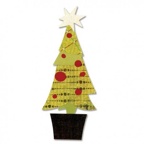 Bigz Die - Tree Christmas & Snowflakes 657058