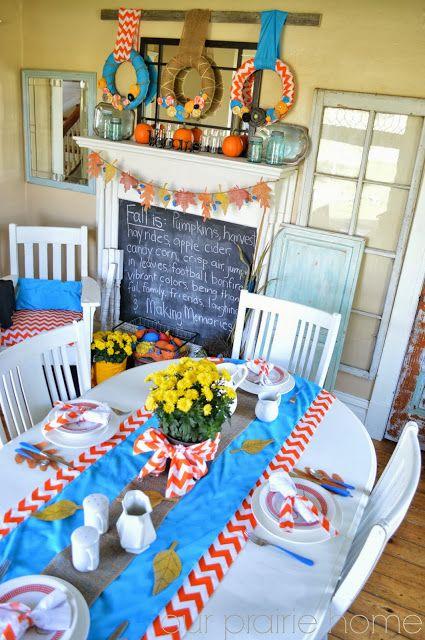 Our Prairie Home: Fun Festive Autumn Dining Room {Reveal}