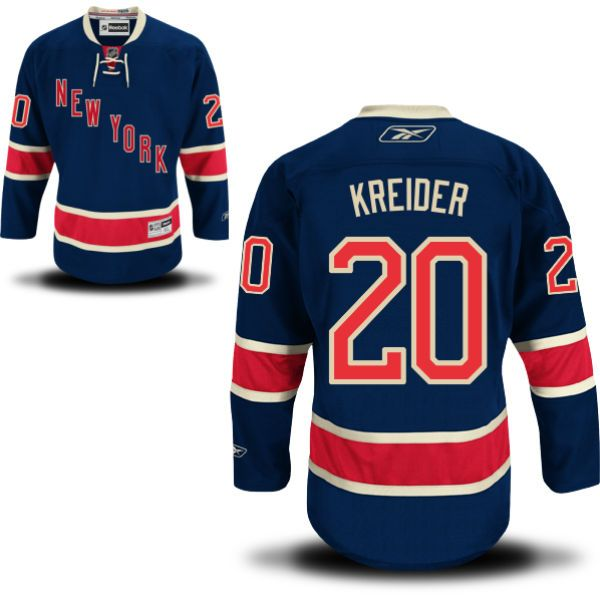 Chris Kreider New York Rangers Alternate - Third Jersey - Reebok Men's Premier  NY Rangers Alternate