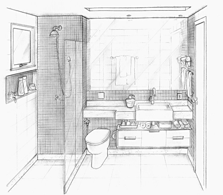 Banheiro projeto designer ana lucia nunes interior architecture design drawing also how to draw point perspective in this time lapse version of rh br pinterest