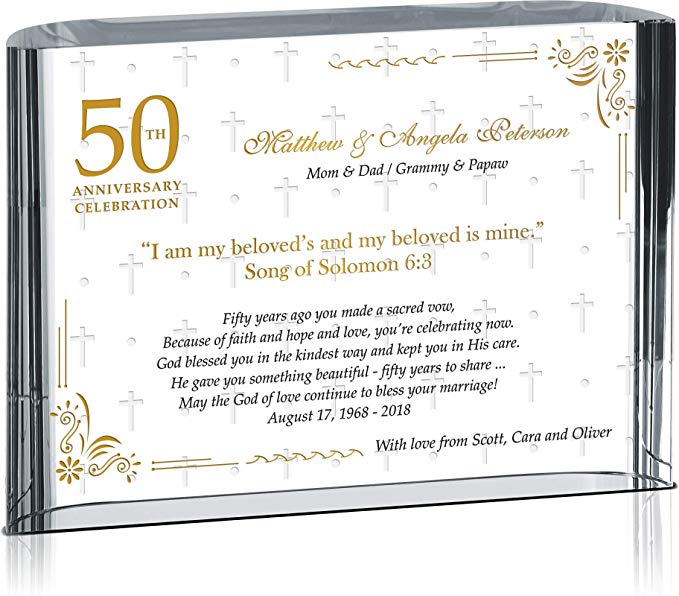 Crystal Central Personalized Golden 50th