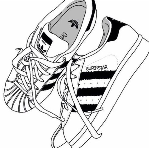 adidas, shoes, and drawing imageの画像 | dibujos bien hechos
