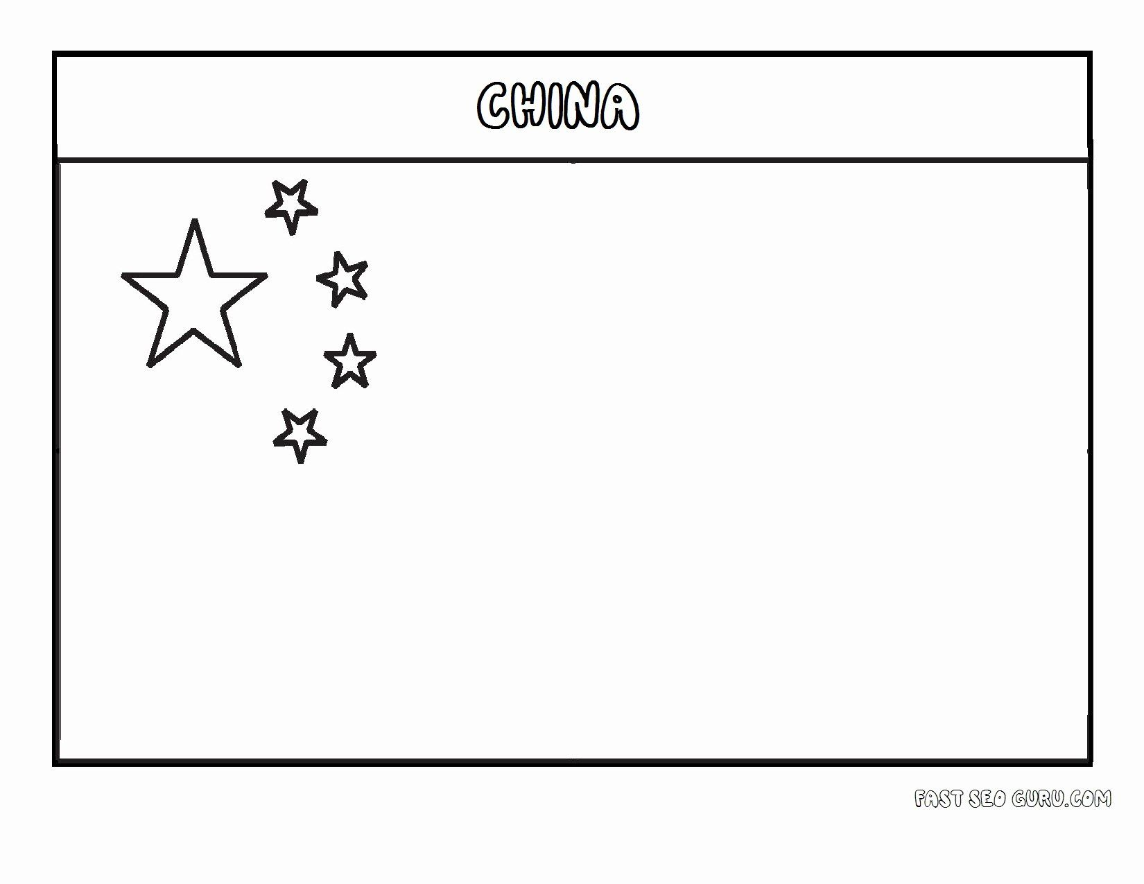 Chinese Flag Coloring Page Unique Free Printable Flag