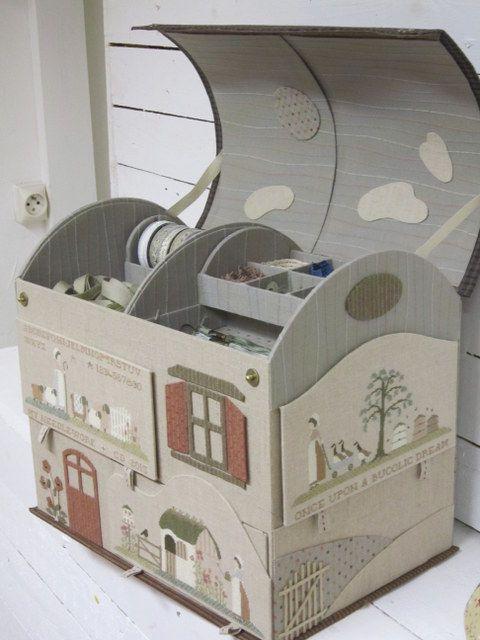 maison en carton cartonnage stitch pinterest carton maison en carton et cartonnage. Black Bedroom Furniture Sets. Home Design Ideas