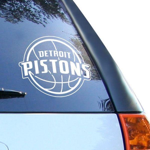 Detroit Pistons 8 Quot X 8 Quot White Decal Logo 8 99