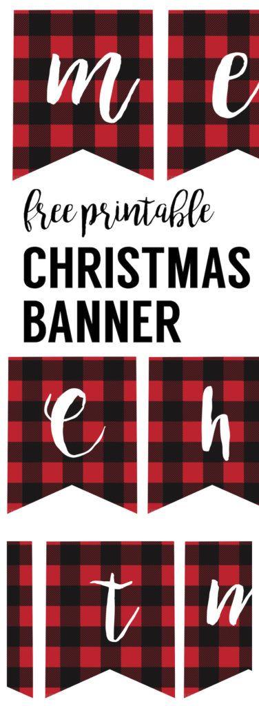 Free Printable Merry Christmas Banner Christmas Banners