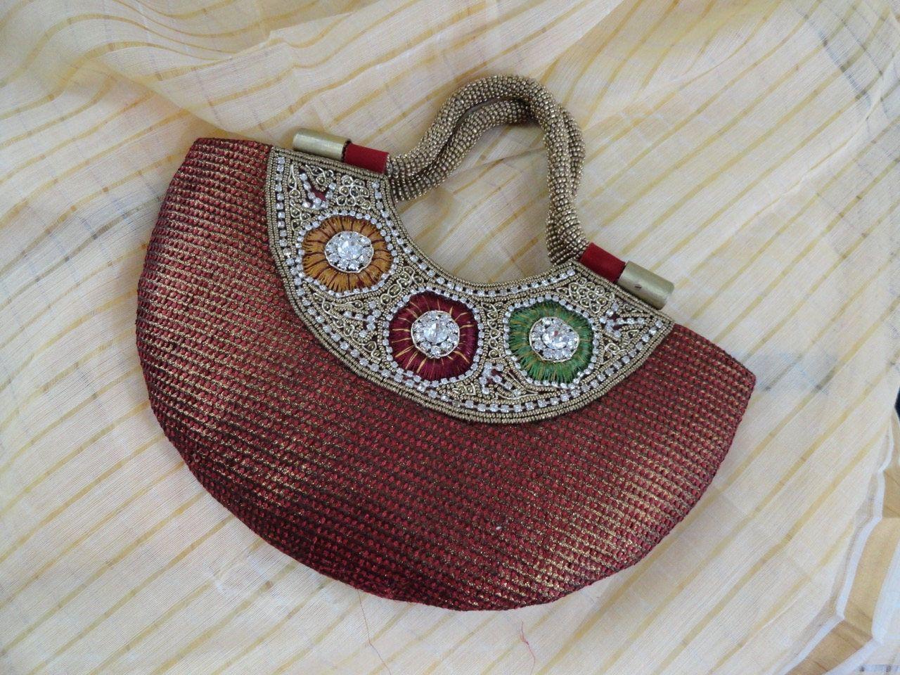 Silk Clutch Dressy Purse Handbag Indian Party Wedding Beads Sequin Wristlet From Artkrti By Artikrti On Etsy