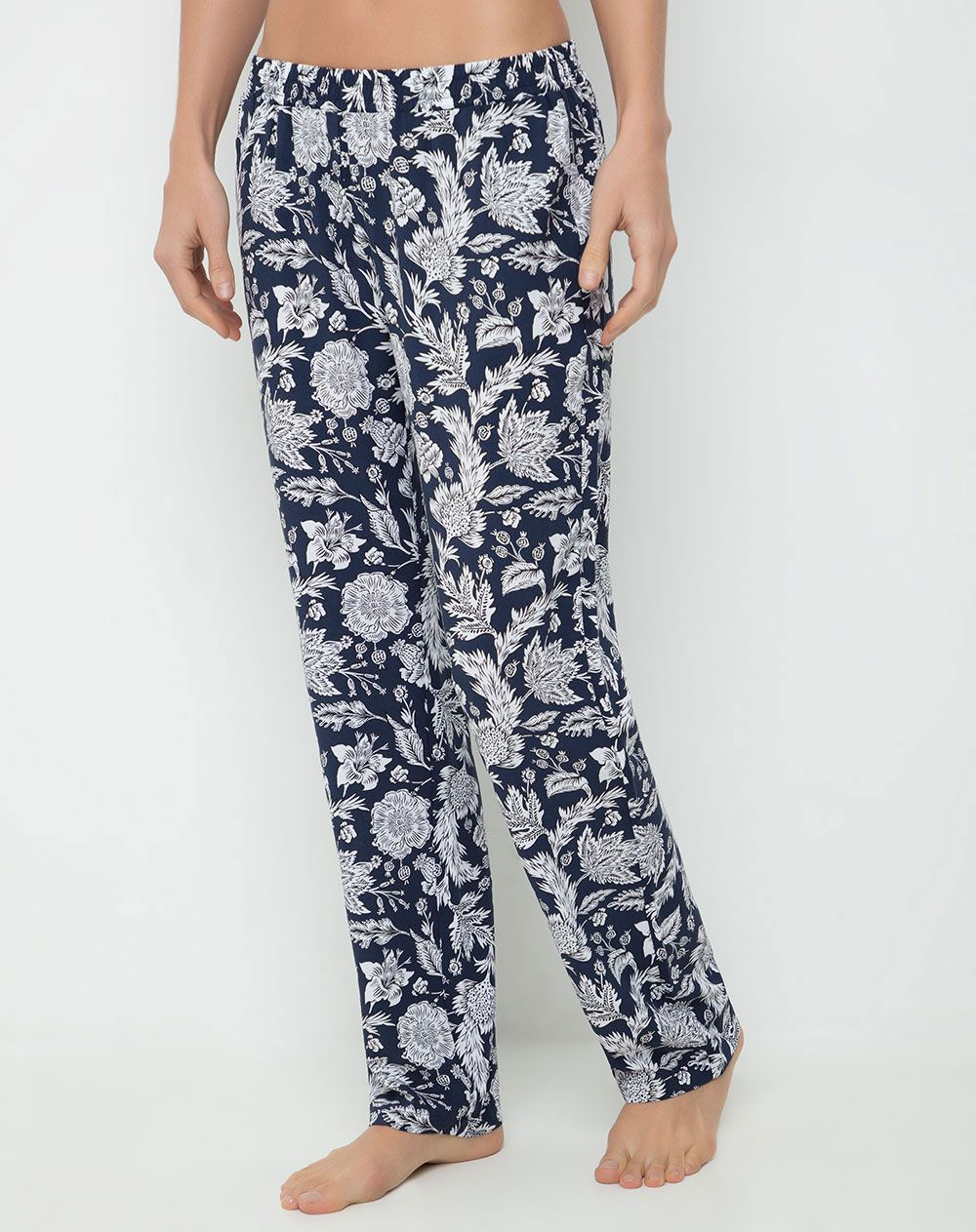 Pantalon Para Mujer Limi Azul Marino Gef Pantalones De Pijama Pantalones Mujer Pantalones
