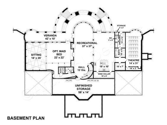 Sussex House Plan Basement Floor Plans Basement Flooring House Plans