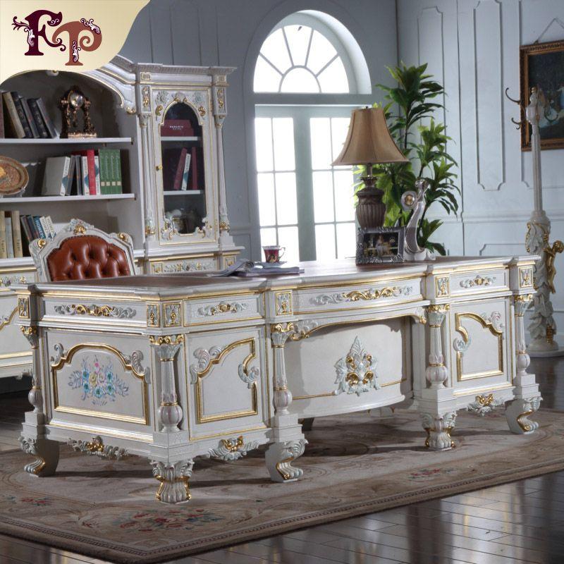Luxus büromöbel-barock hand carving lizenz arbeitszimmer set ...