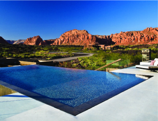 Naturally Inspired | Utah Style & Design  Negative edge pool