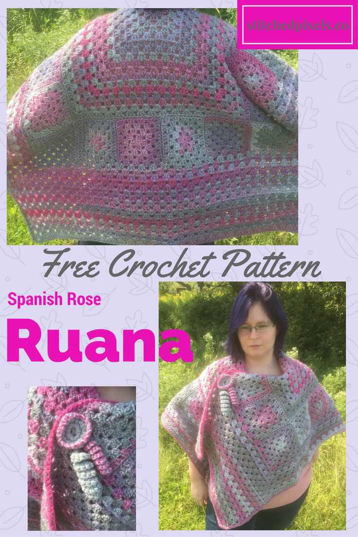 The Spanish Rose Ruana is now on the blog. Get ready for fall, and ...