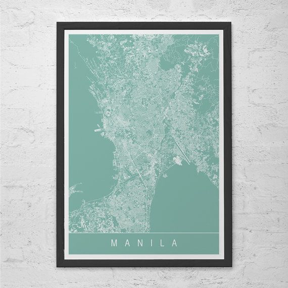 Manila map print line art city map manila philippines map wall manila map print line art city map manila philippines map publicscrutiny Images