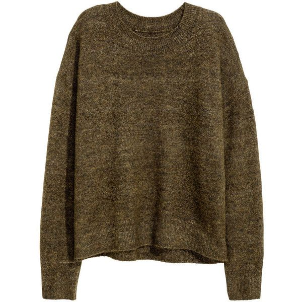 Oversized Sweater $19.99 ($20) ❤ liked on Polyvore featuring tops, sweaters, ribbed sweater, over sized sweaters, wool sweater, brown top and fine knit sweater