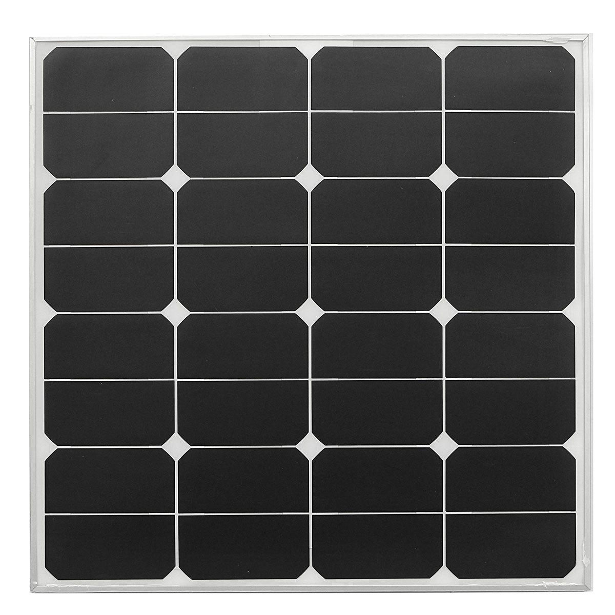 Elfeland 50w 18v 535x535cm fotovoltaica marco de la aleación de ...