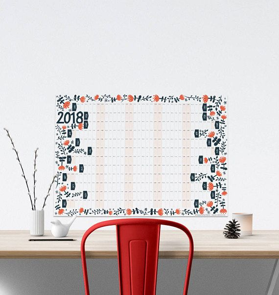 large 12 month wall calendars
