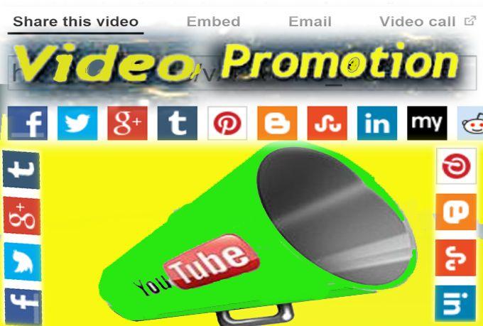 andrew89: promote ur Youtube video 10FB,30Tweets,15G+1,12Trumblr,20Pin,18Linkdn,15Stumbl for $5, on fiverr.com