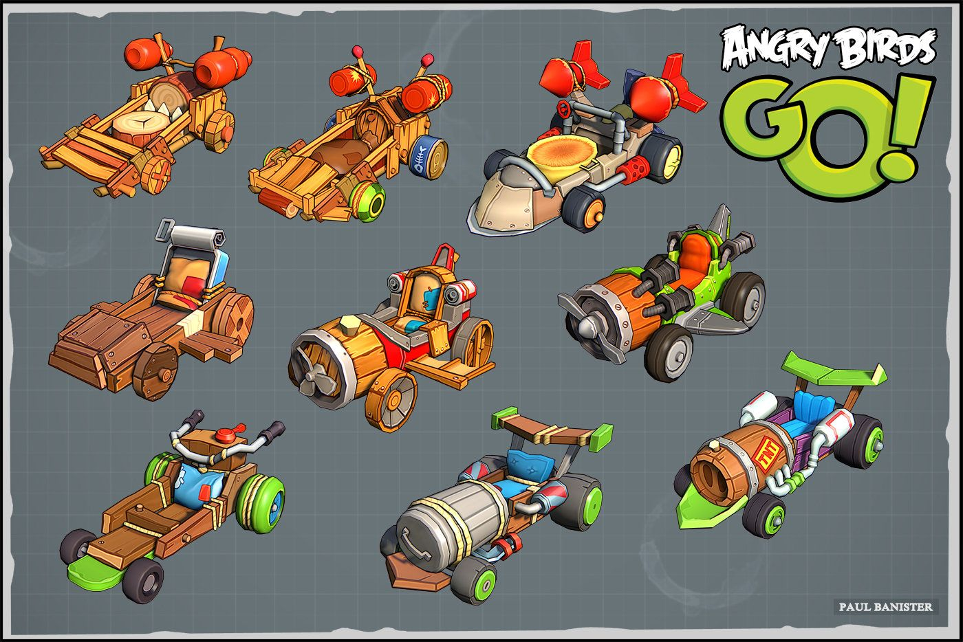 Angry Birds Go, Paul Banister on ArtStation at https://www ...