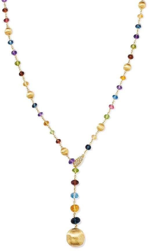 775d693379dde2 Marco Bicego 18K Yellow Gold Africa Gemstone Beaded Lariat Necklace, 18