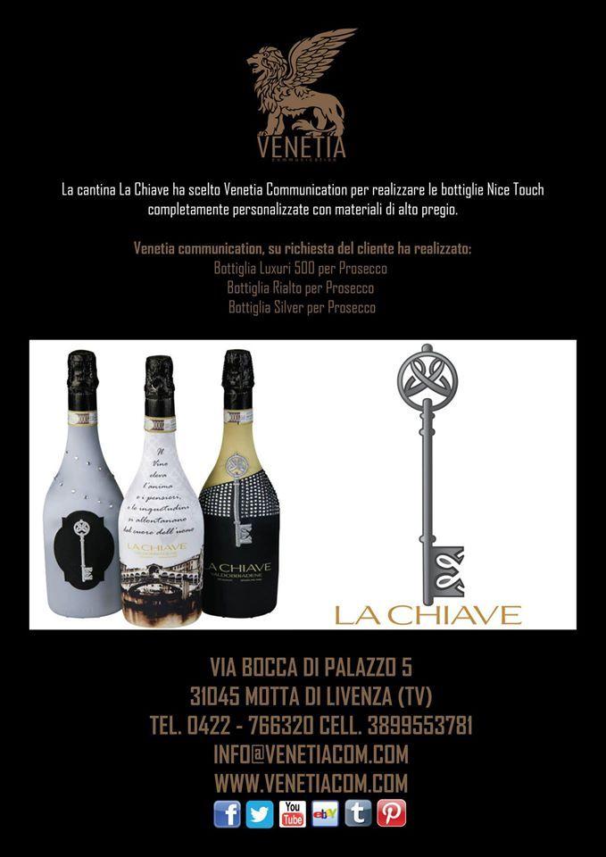 La Cantina La Chiave ha scelto Venetia Communication per realizzare le bottiglie Nice Touch Completamente Personalizzate con Materiali di Alto Pregio