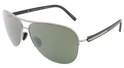 375babfc04bb1 Porsche Design P 8569 P8569 D Light Gunmetal Pilot Aviator Sunglasses 61mm