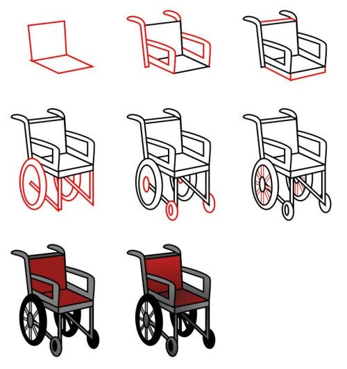 Cartoon Wheelchair Drawing Google Search In 2020 Cartoon Drawings Easy Cartoon Drawings Car Cartoon