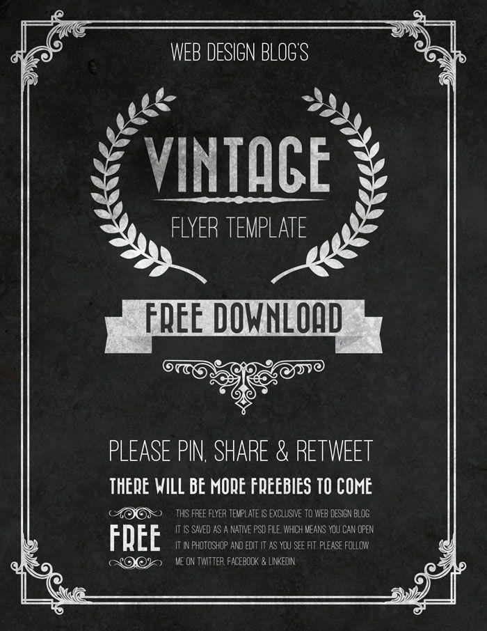 Free Vintage Flyer Template Psd Web Design Blog Free Psd Flyer Templates Free Flyer Templates Flyer Template
