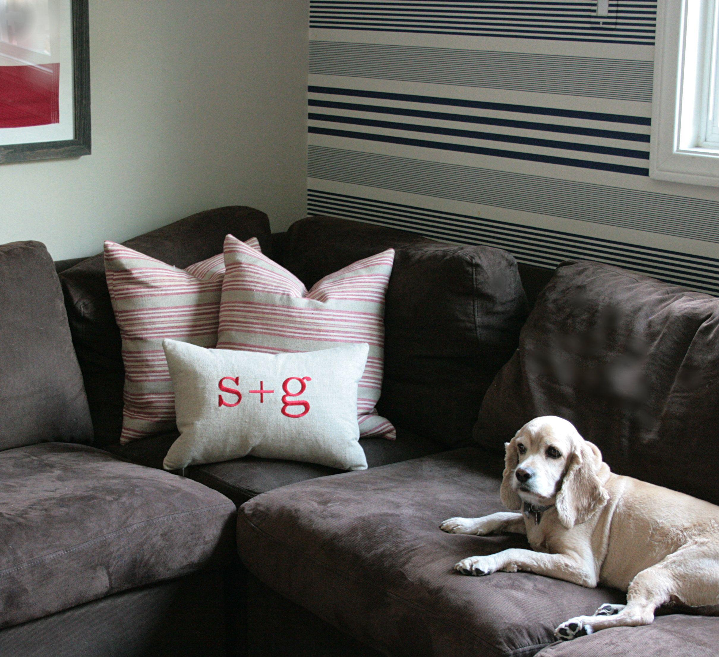 cute initial pillows