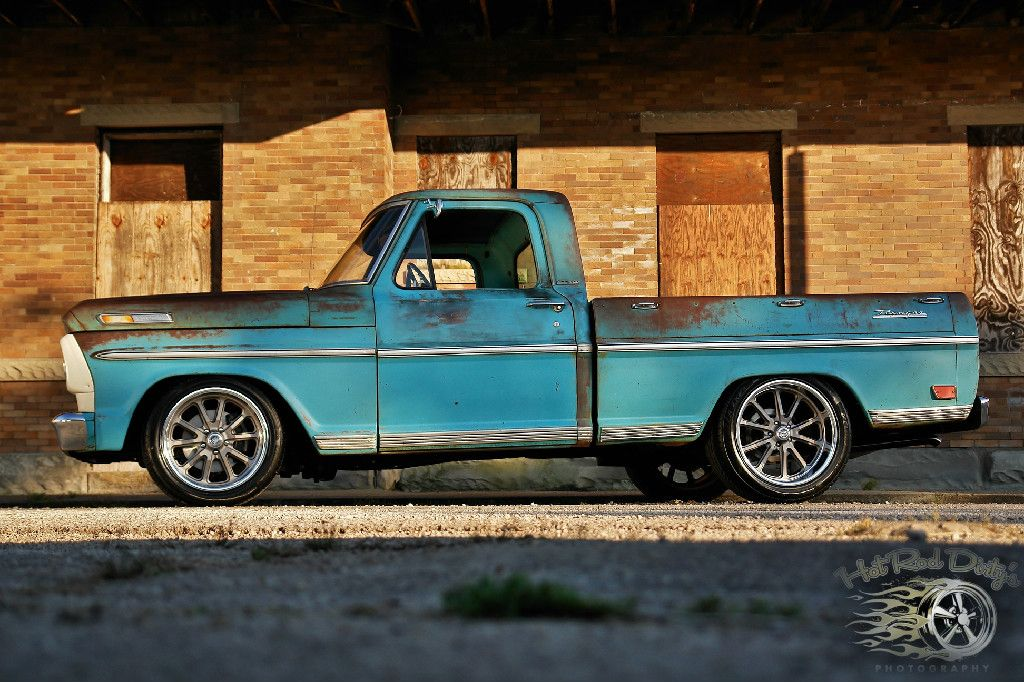 1968 Ford F100 w/ Slam'd Stance Crown Victoria front end swap 18/20