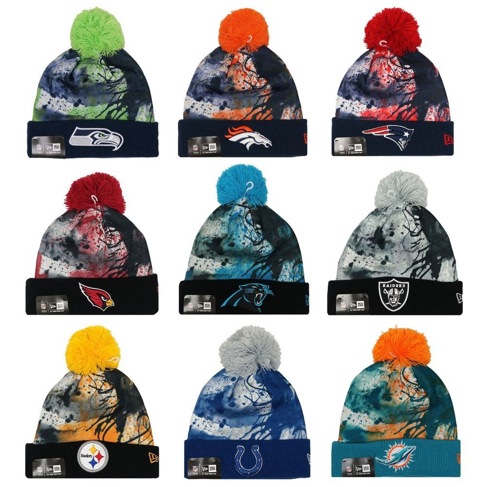 bea10a696 NEW ERA NFL teams Scenic Cover Splatter Sport Knit Hat Beanie  NewEra