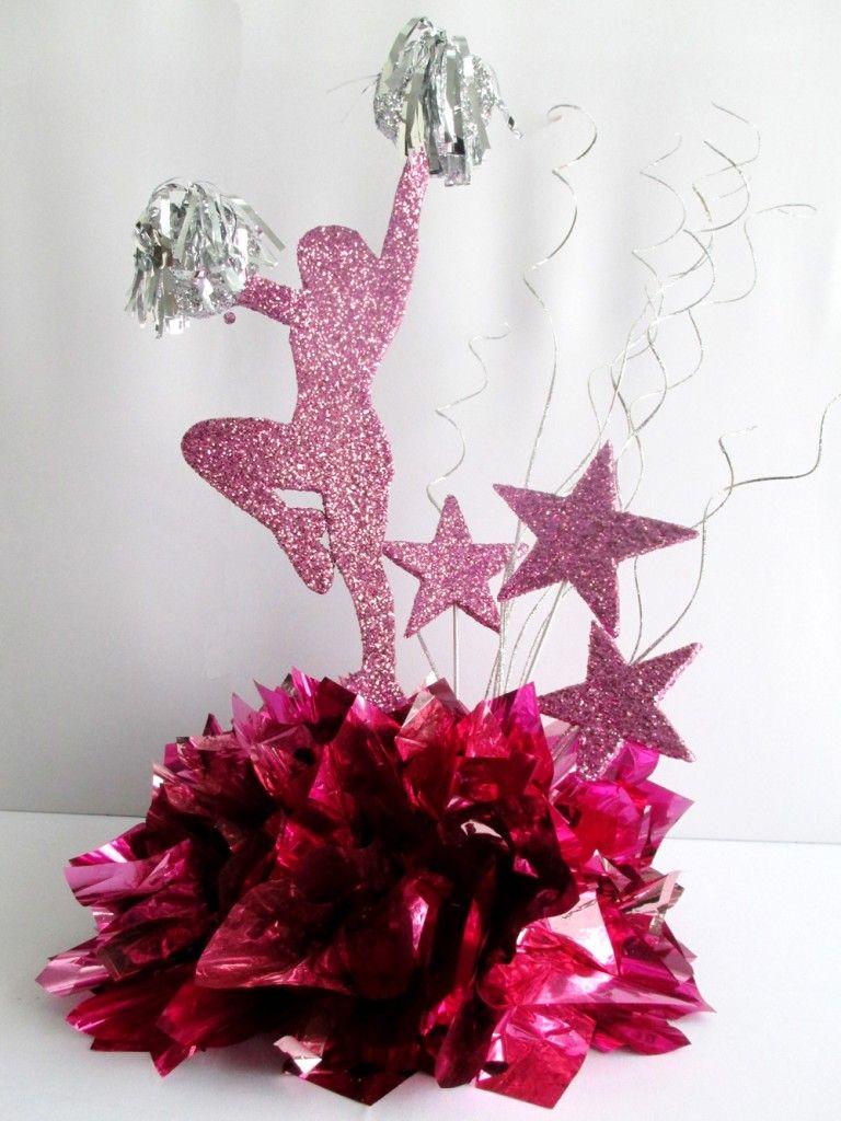 cheerleader-stars-centerpiece   Team Mom   Cheer party ...