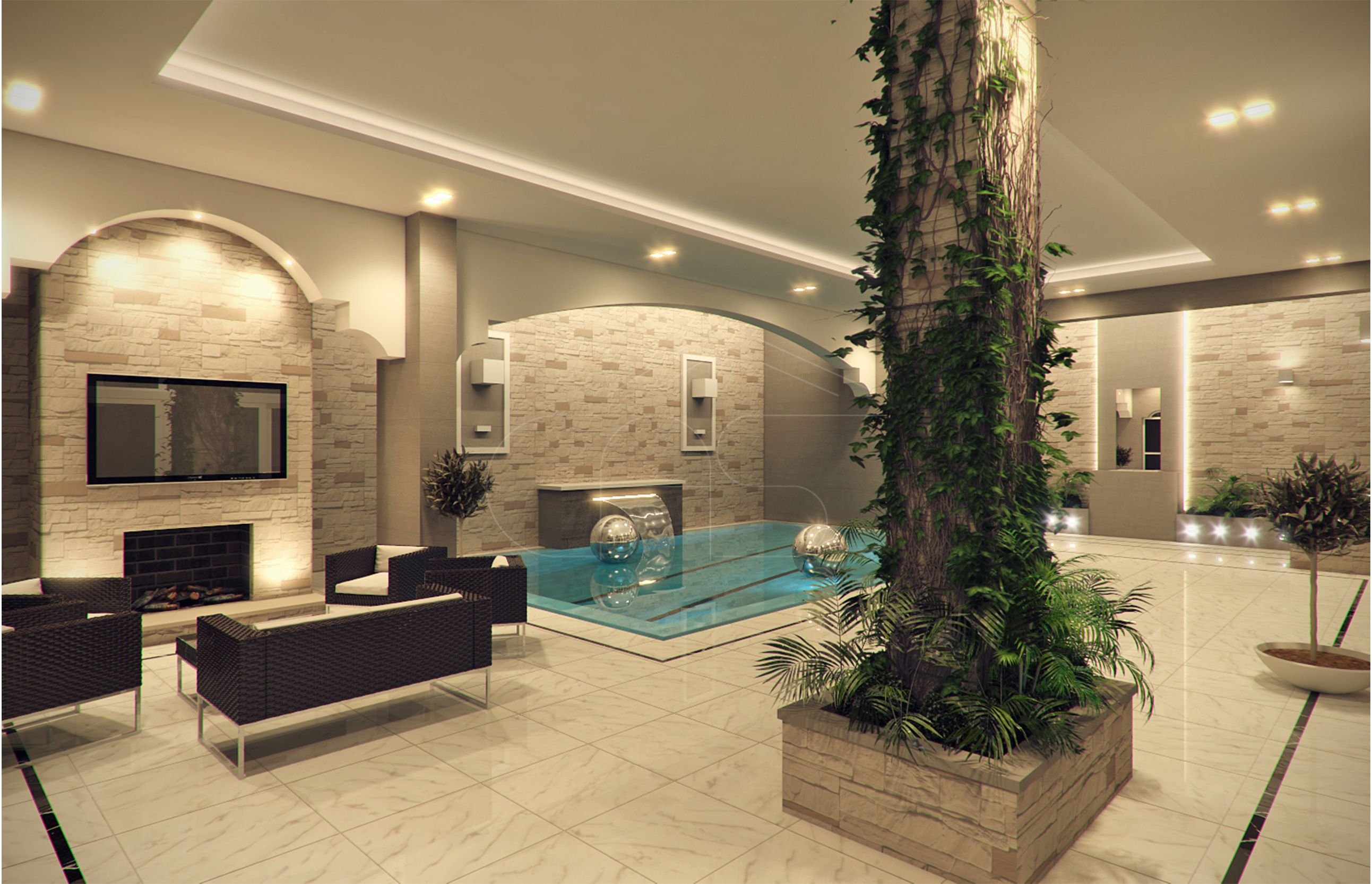 Modern classic villa interior design modern classic for Villa rose riyadh interior design