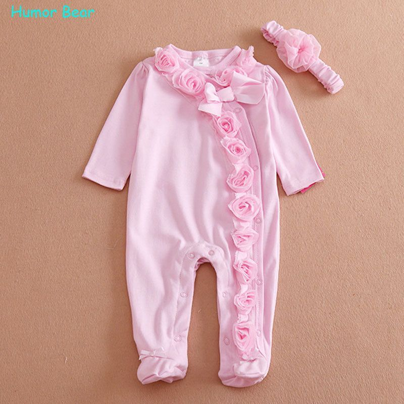 2287ef012 Humor Bear NEW Newborn Baby Girl Clothes Bow Flowers Romper Clothing ...