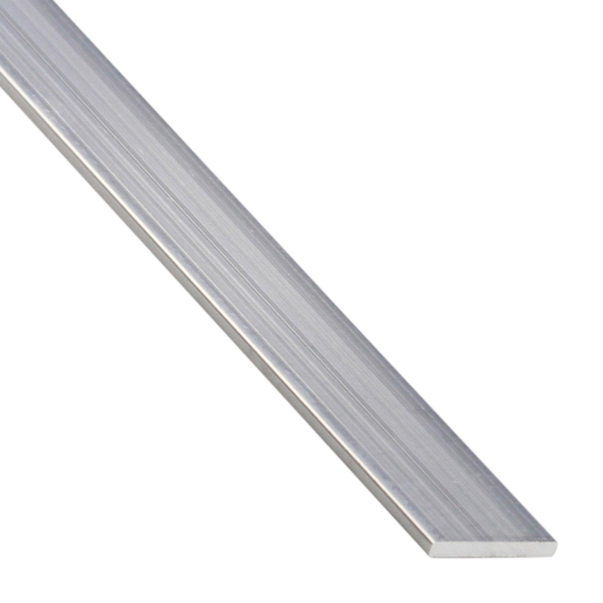 Plat Aluminium Brut Argent L 2 6 M X L 2 2 Cm X H 0 2 Cm Standers Brut Argent Et Plat