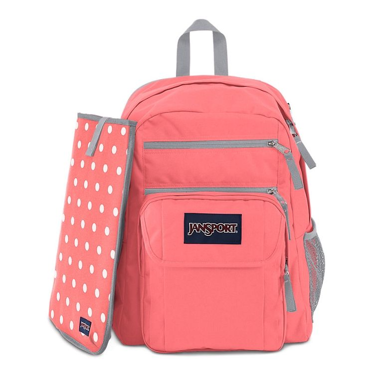 Jansport Digital Student Backpack Coral Sparkle White Dots 13 49